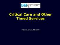 Critical Care Preview